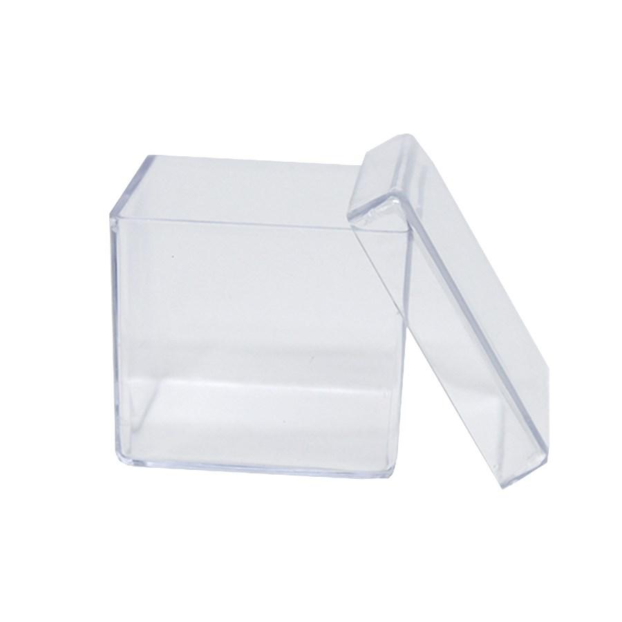 Caixa Acrílica Transparente 5x5x4,5cm - 10 unidades