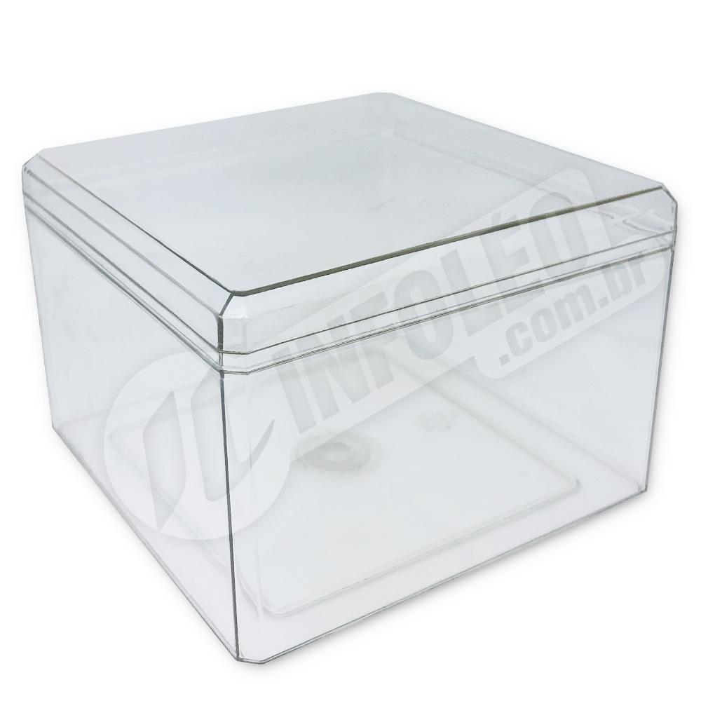Caixa Acrílica Transparente 9,5x9,5x7cm