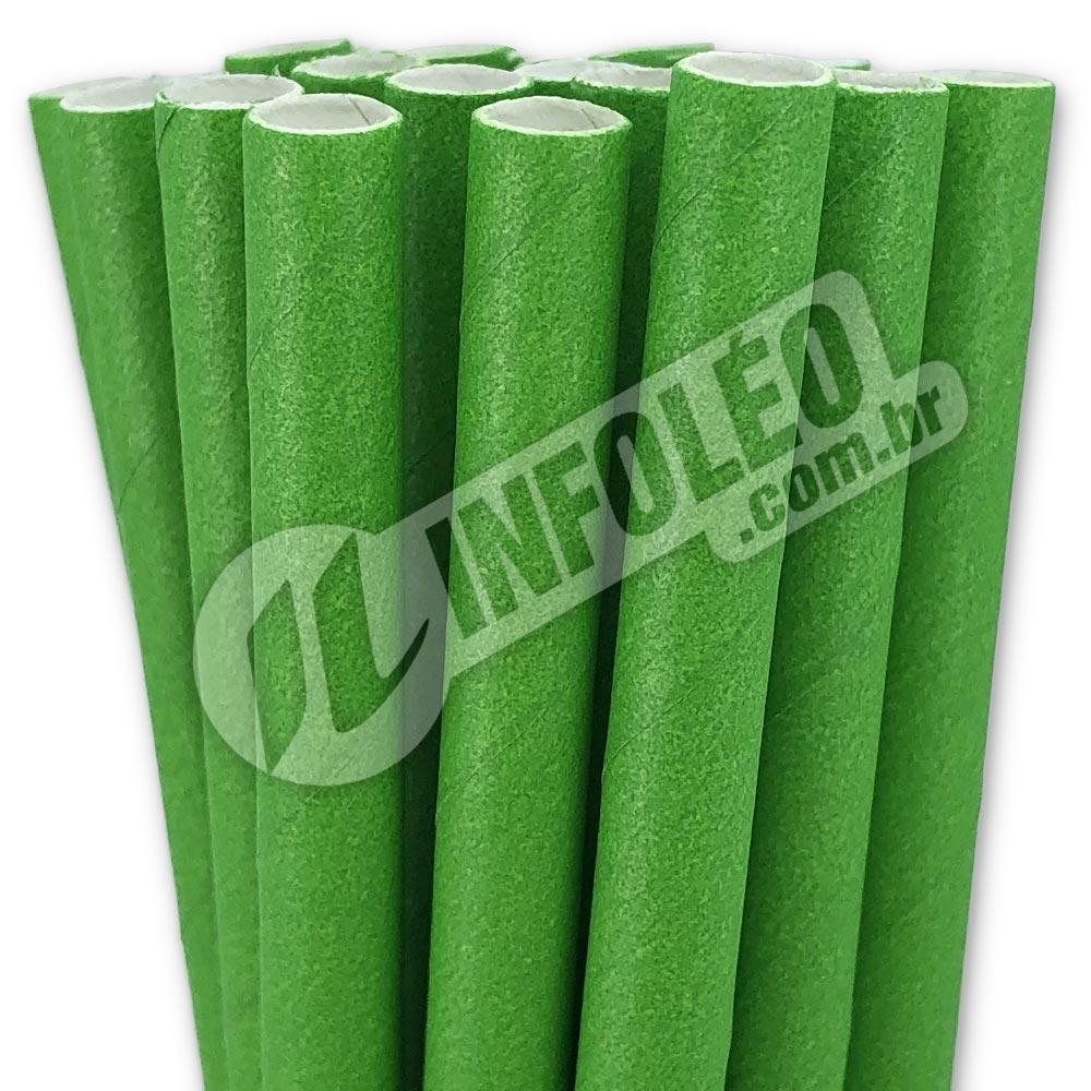 Canudo de Papel Verde - 20 unidades
