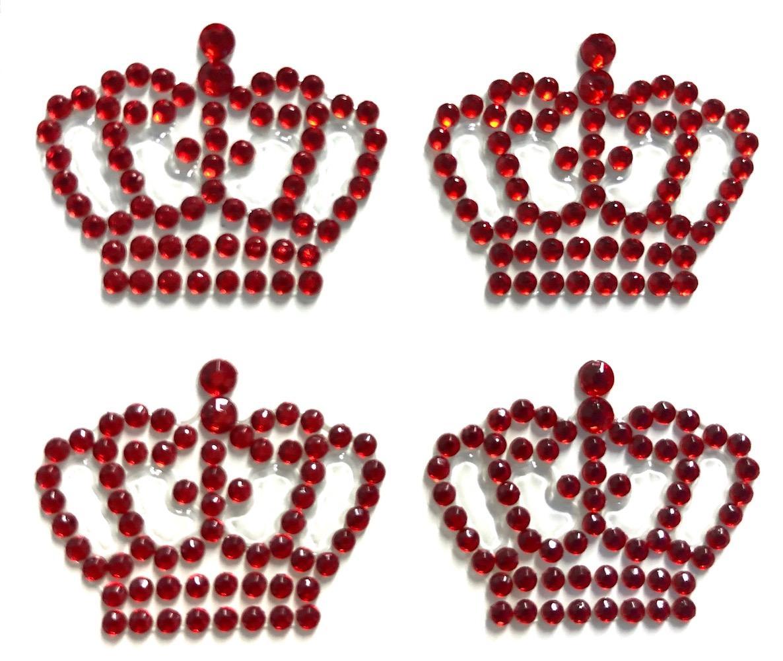 Cartela de Strass Coroa Rainha Vermelha