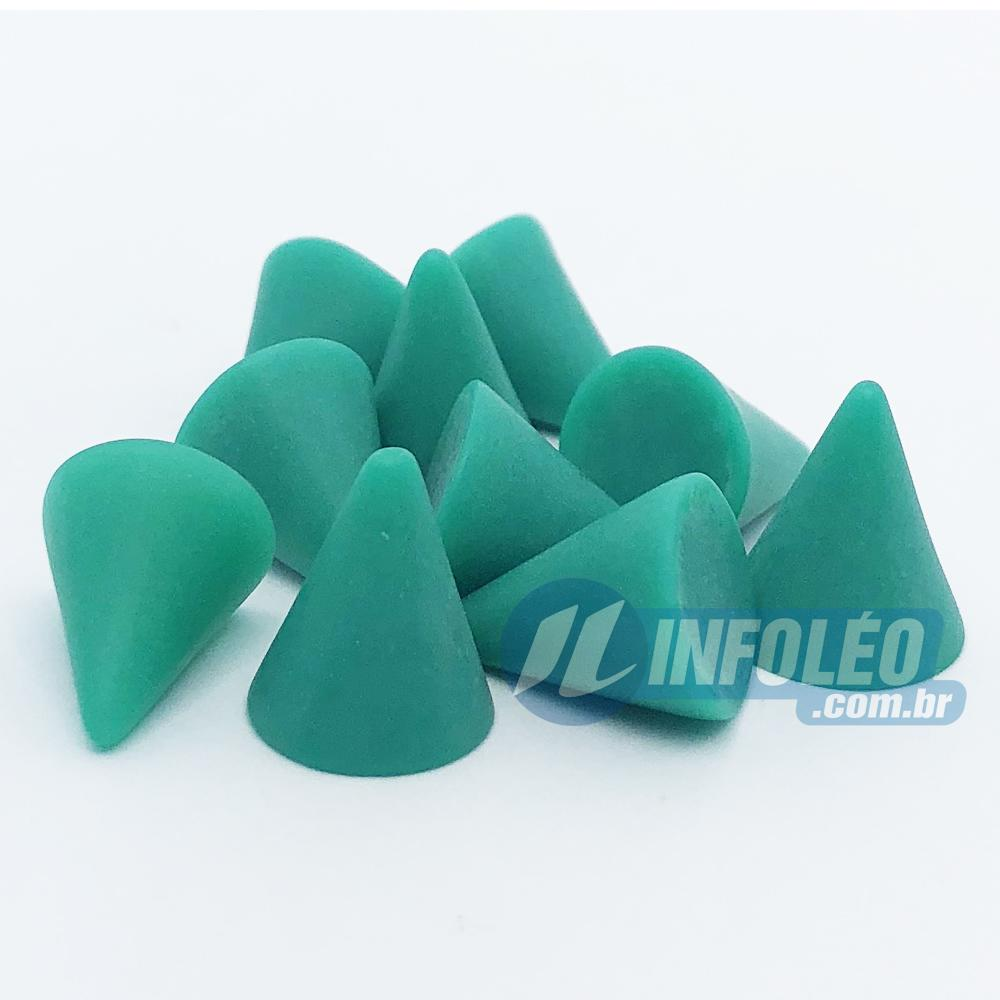 Chaton ABS Cone 10x15mm Verde