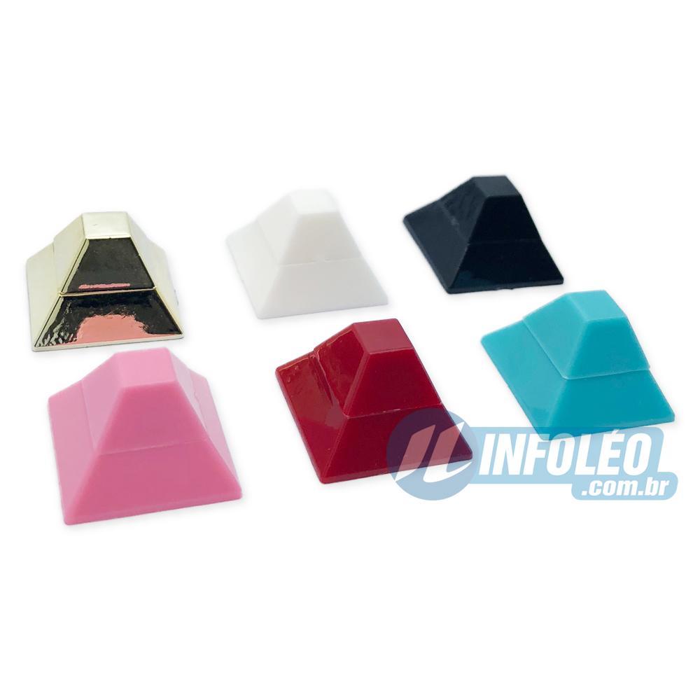 Chaton ABS Quadrado Piramide 18x12x18mm