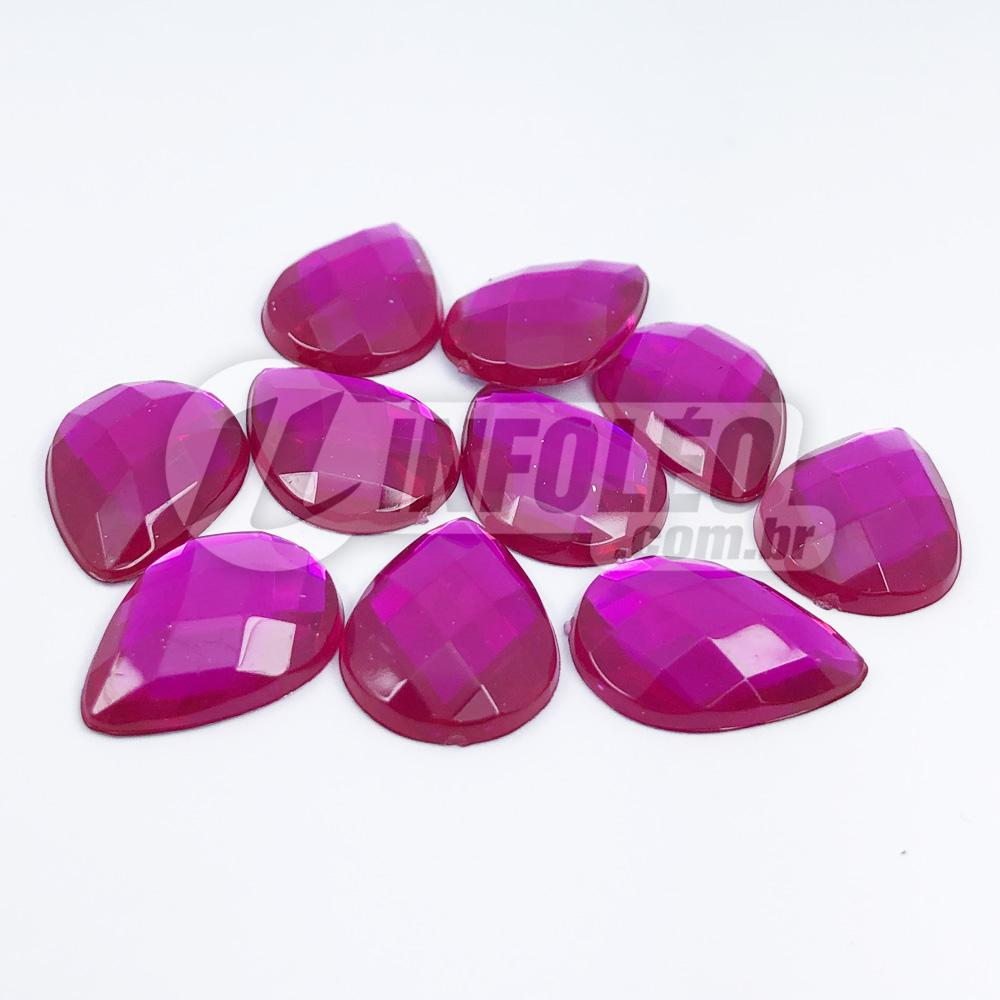 Chaton Acrilico Gota 13x18mm Rosa Pink - 10 unidades