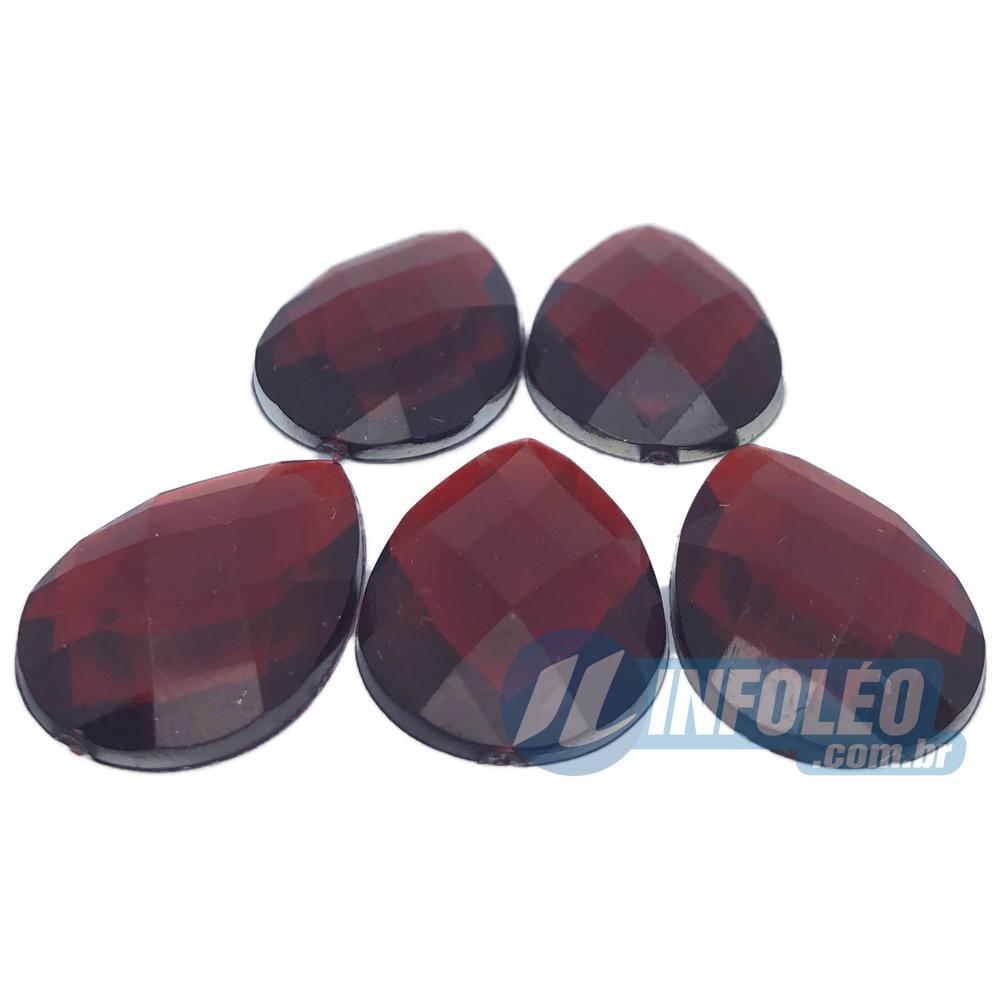 Chaton Acrilico Gota 18x25mm Vermelho LB0032 - 5 unidades