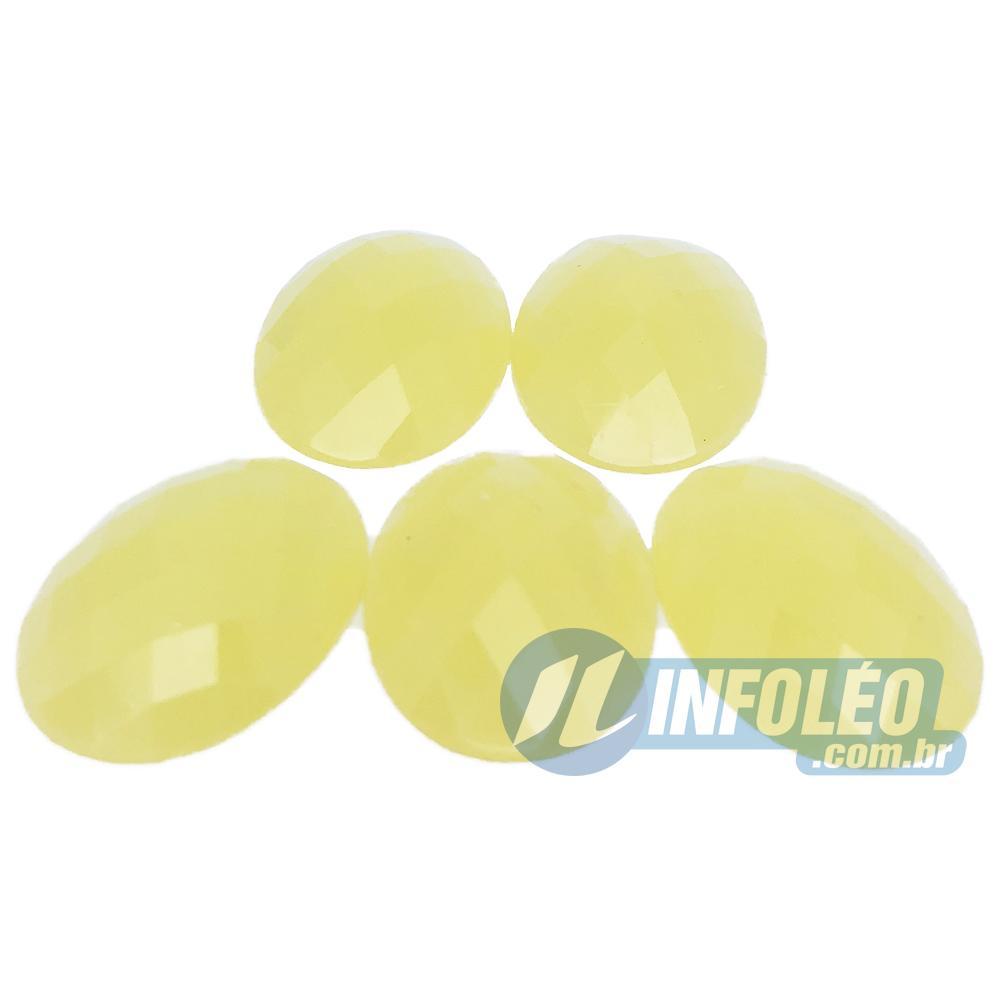 Chaton Acrilico Oval 18x25mm Amarelo Água LB0039 - 5 unidades