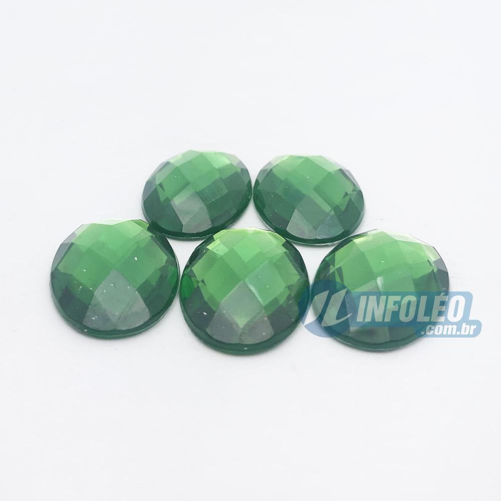Chaton Acrilico Oval 18x25mm Verde - 5 unidades