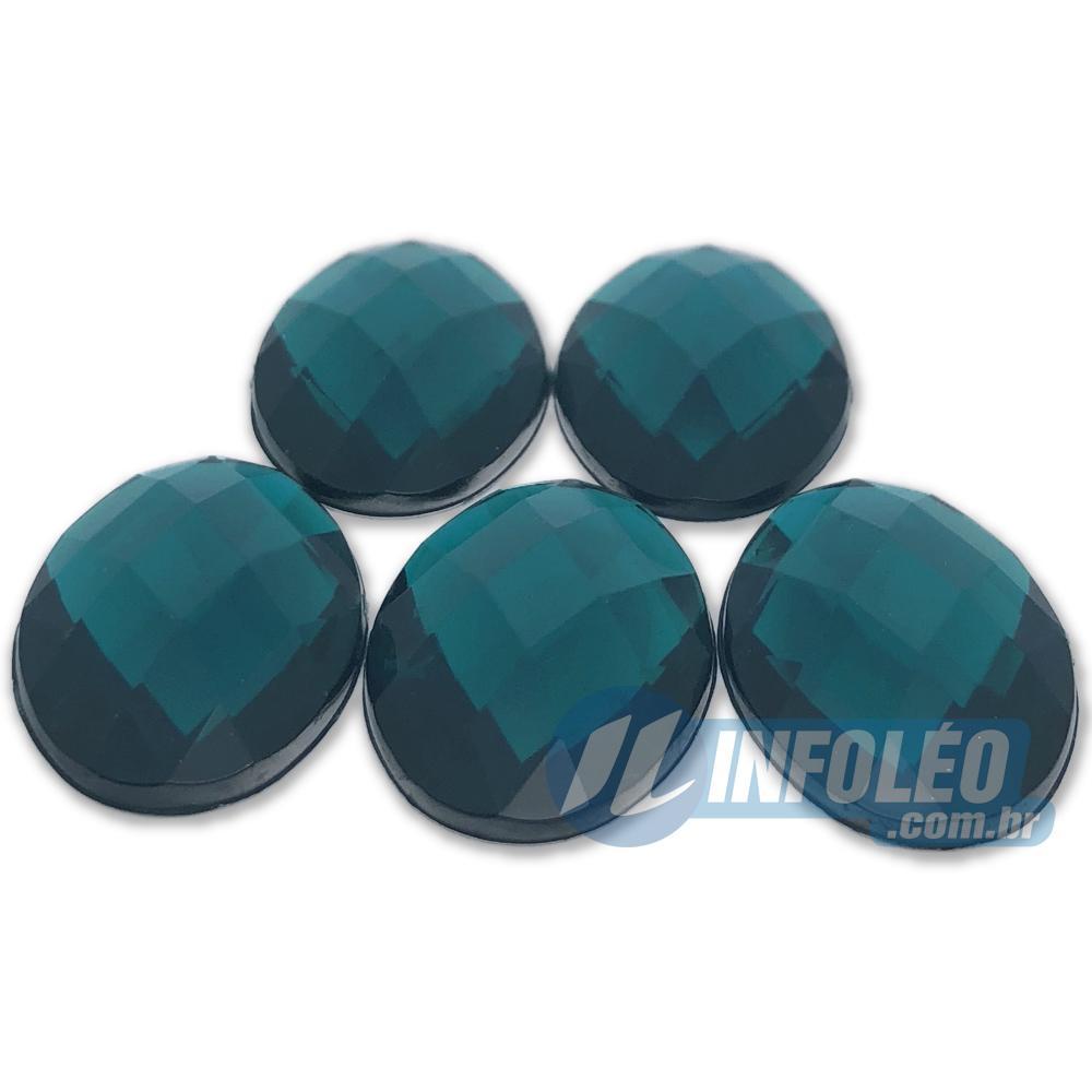 Chaton Acrilico Oval 18x25mm Verde LB0035 - 5 unidades