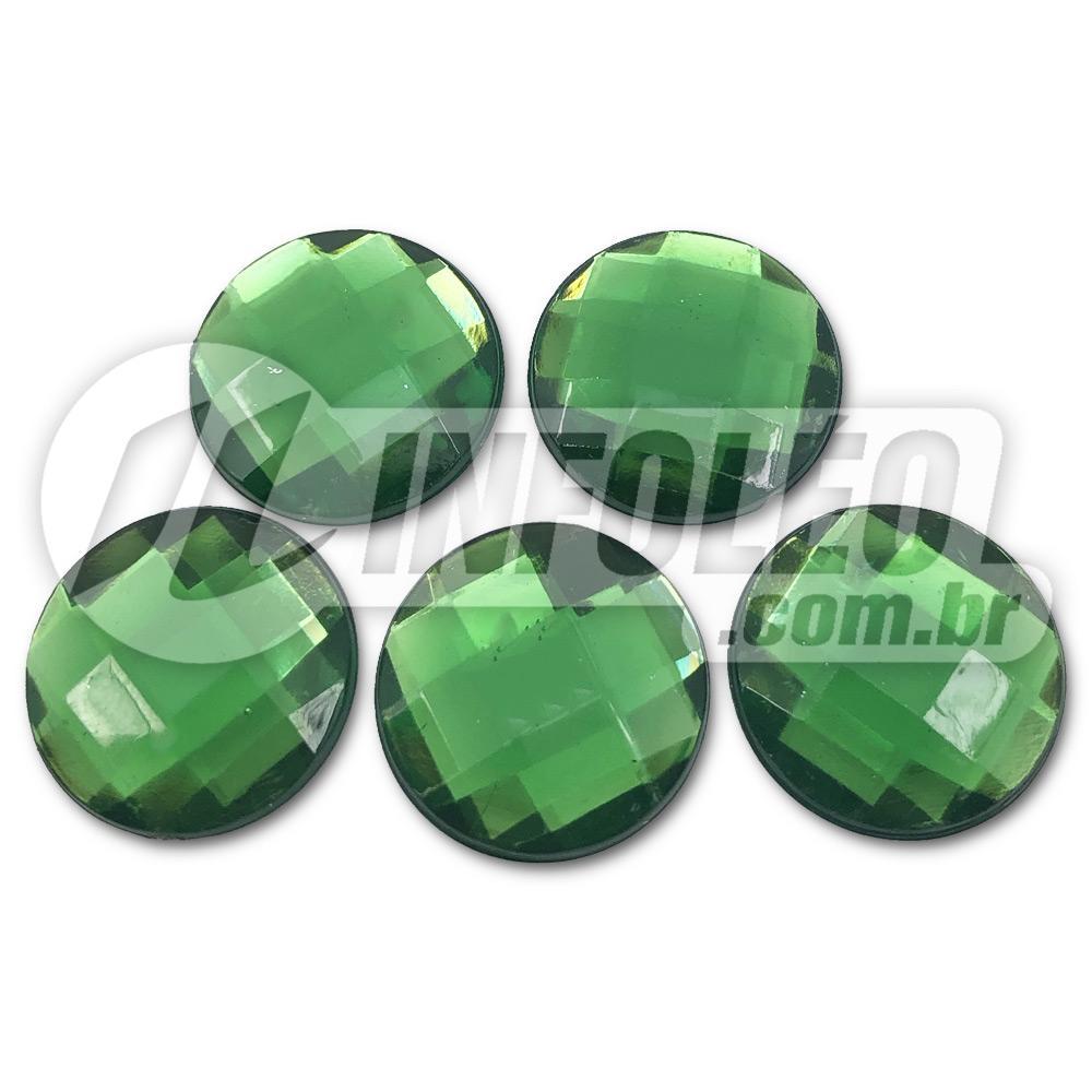 Chaton Acrilico Redondo 20mm Verde Escuro - 5 unidades