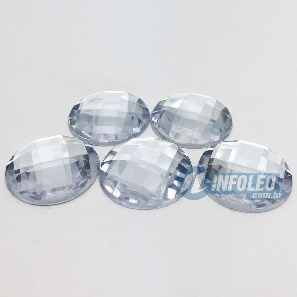 Chaton Acrilico Redondo 22mm Transparente - 5 unidades