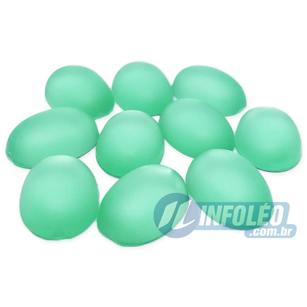 Chaton Gelatina Oval 13x18mm Verde LB0026 - 10 unidades