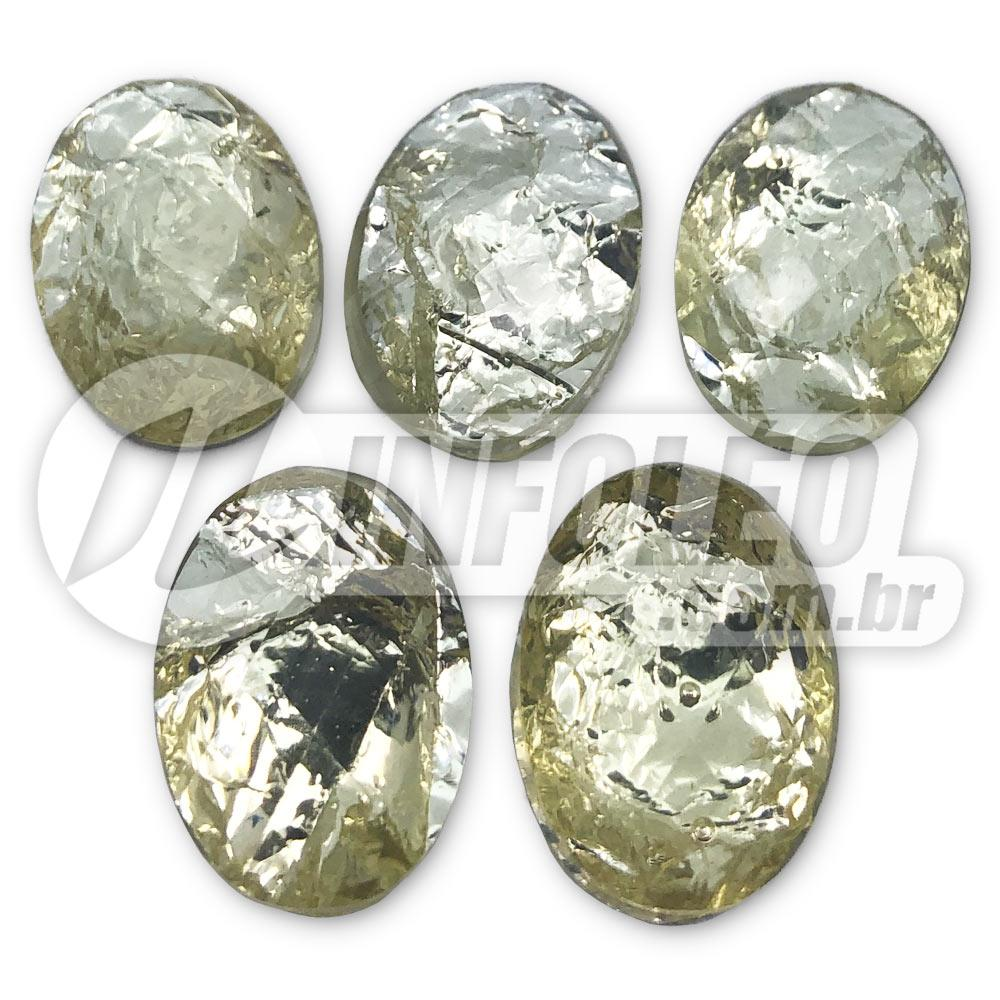 Chaton Oval 13x18mm Champagne - 5 unidades