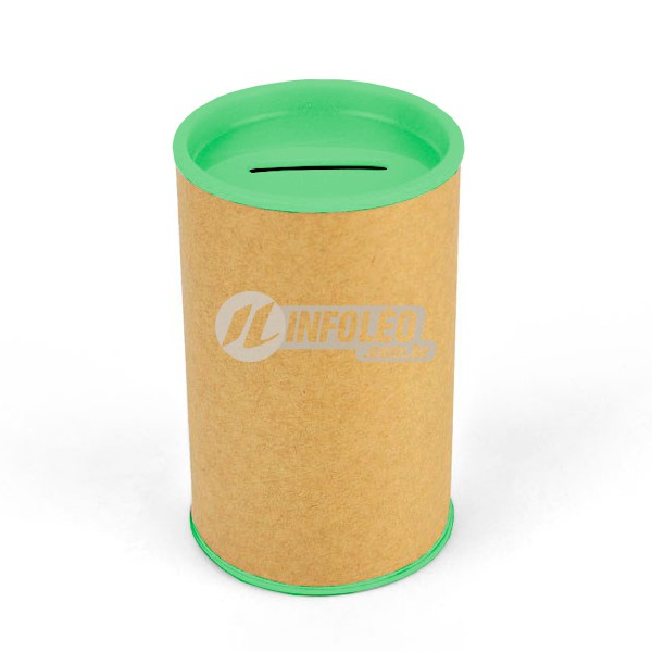 Cofrinho Papelão 6,5x10cm Verde Pistache C/ Tampa de Plástico