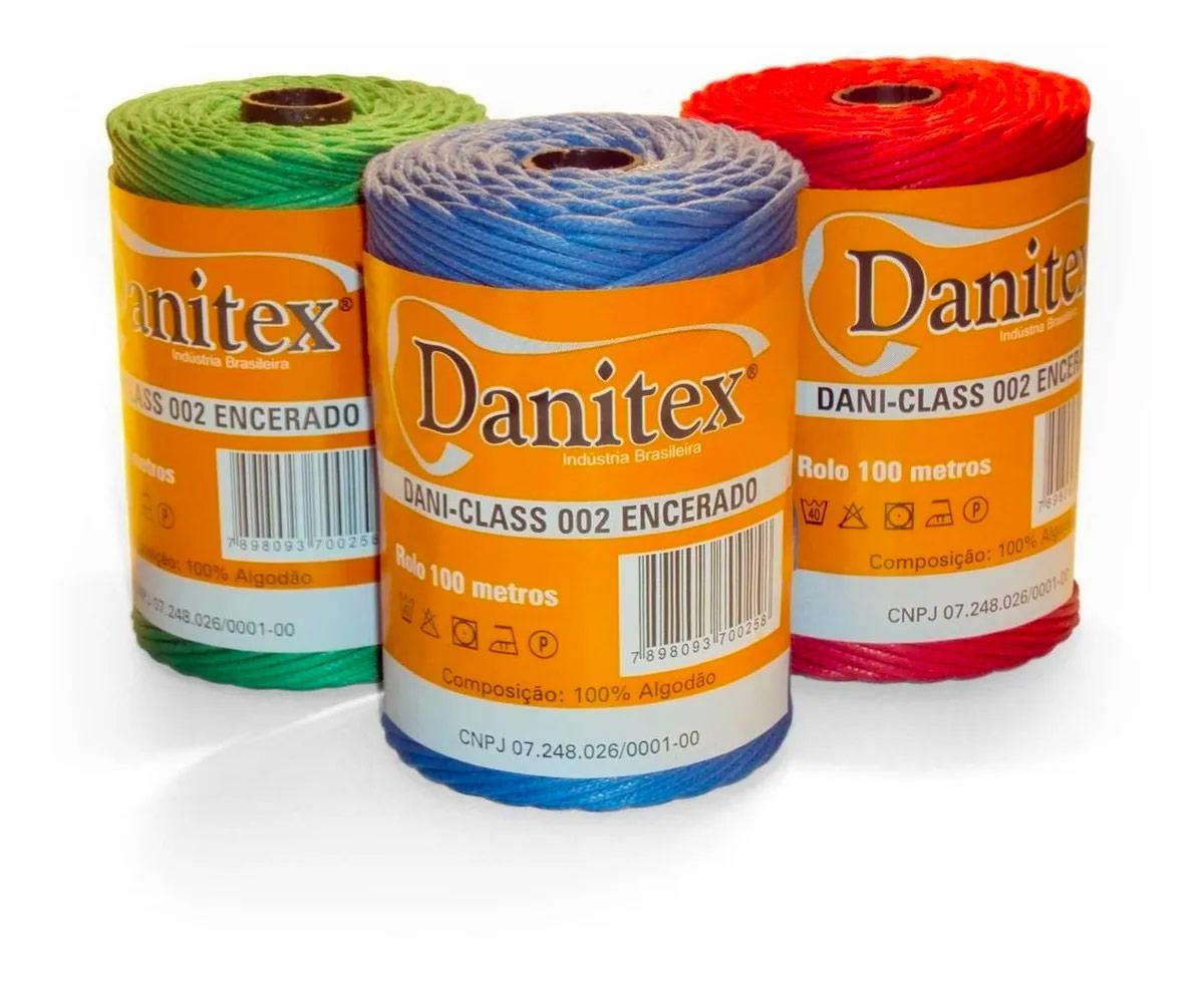 Cordão Encerado (Fio) 1,5mm C/ 100 Metros Danitex