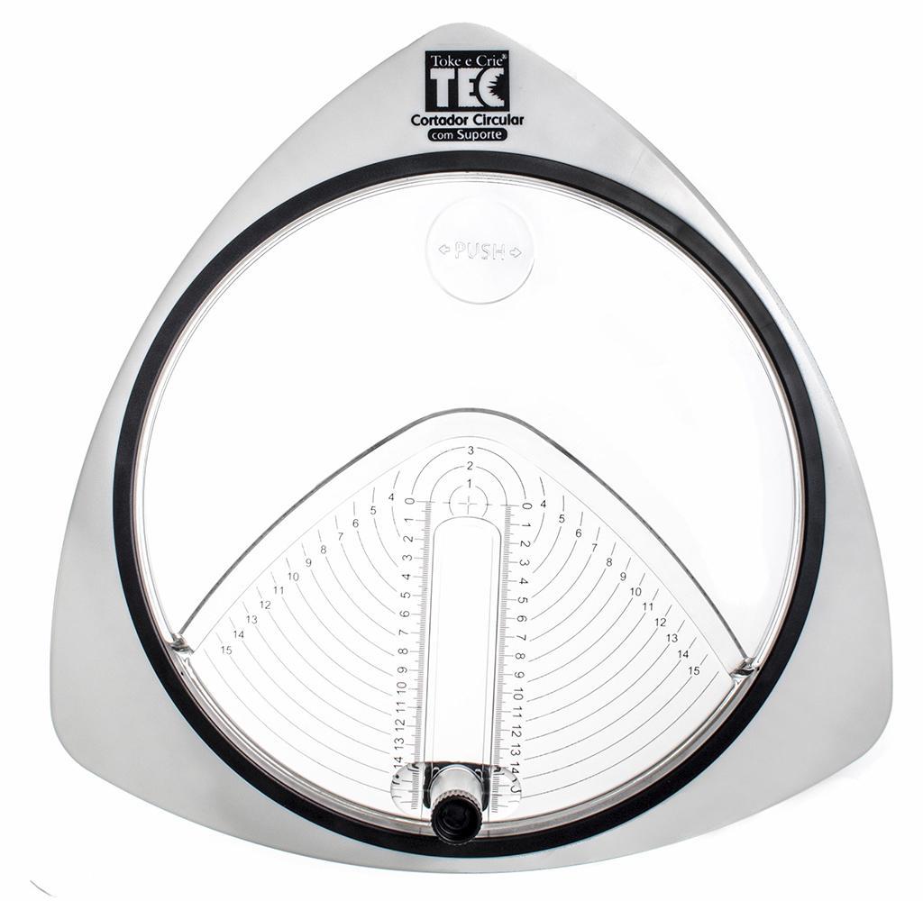 Cortador Circular C/ Suporte + Refil de 03 Lâminas Toke e Crie - 16079 - DI106