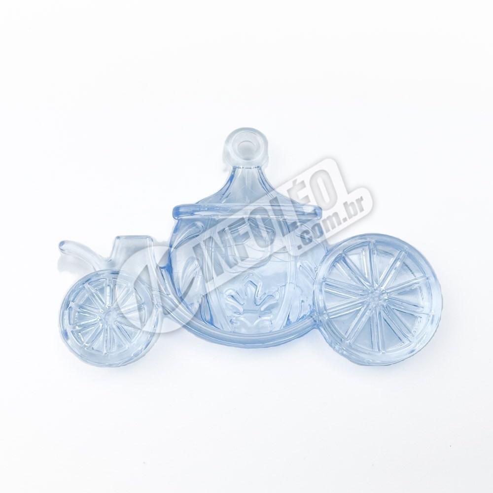 Enfeite Acrílico Mini Carruagem Azul - unidade