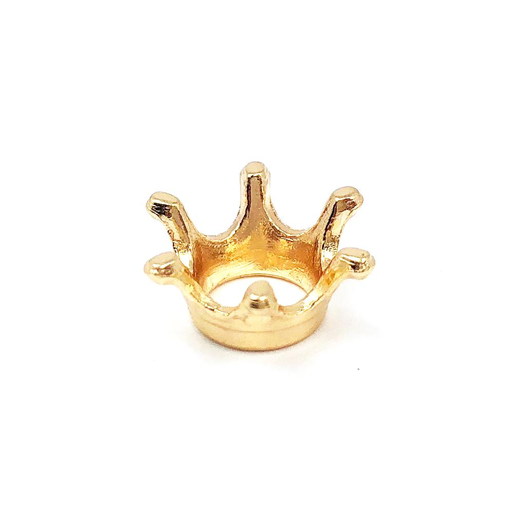 Enfeite Coroa Dourada P/ Canudo 1x1cm C/  10 unidades