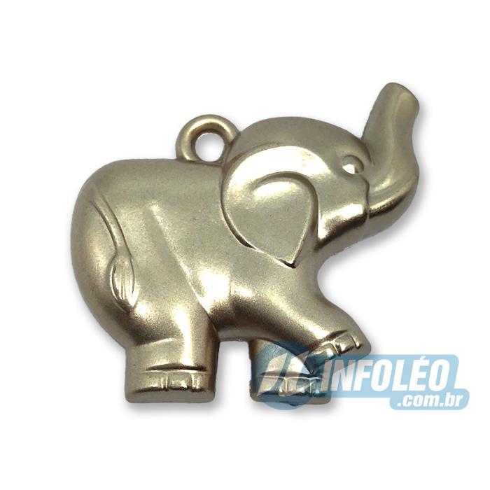 Enfeite Elefante Ouro Fosco Dupla Face 3,5x3x0,8cm MC0022
