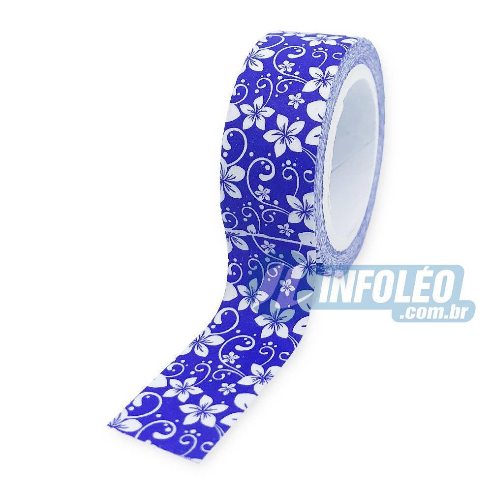 Fita Adesiva Flores Roxo Washi Tape 1,5x5MT
