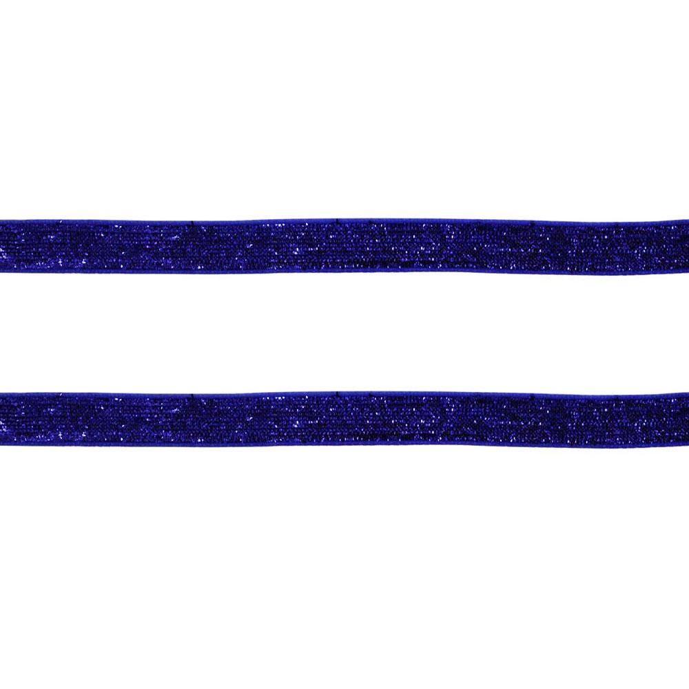 Fita Sintetica C/ Glitter Azul Royal 10MMx2MT