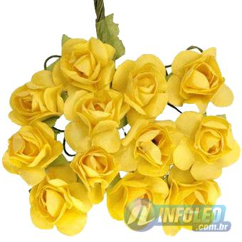 Flor de Papel Amarelo - 72 unidades