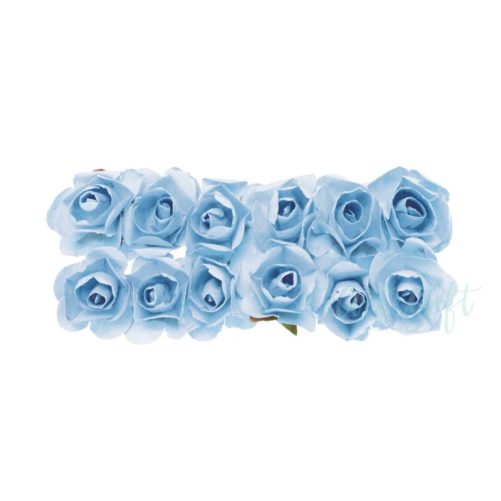 Flor de Papel Azul Bebê - 72 unidades