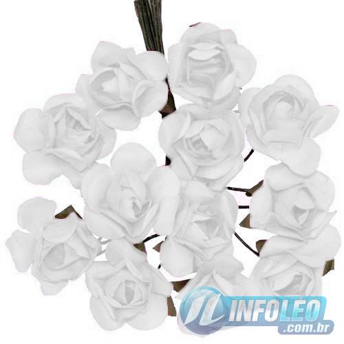 Flor de Papel Branco - 72 unidades