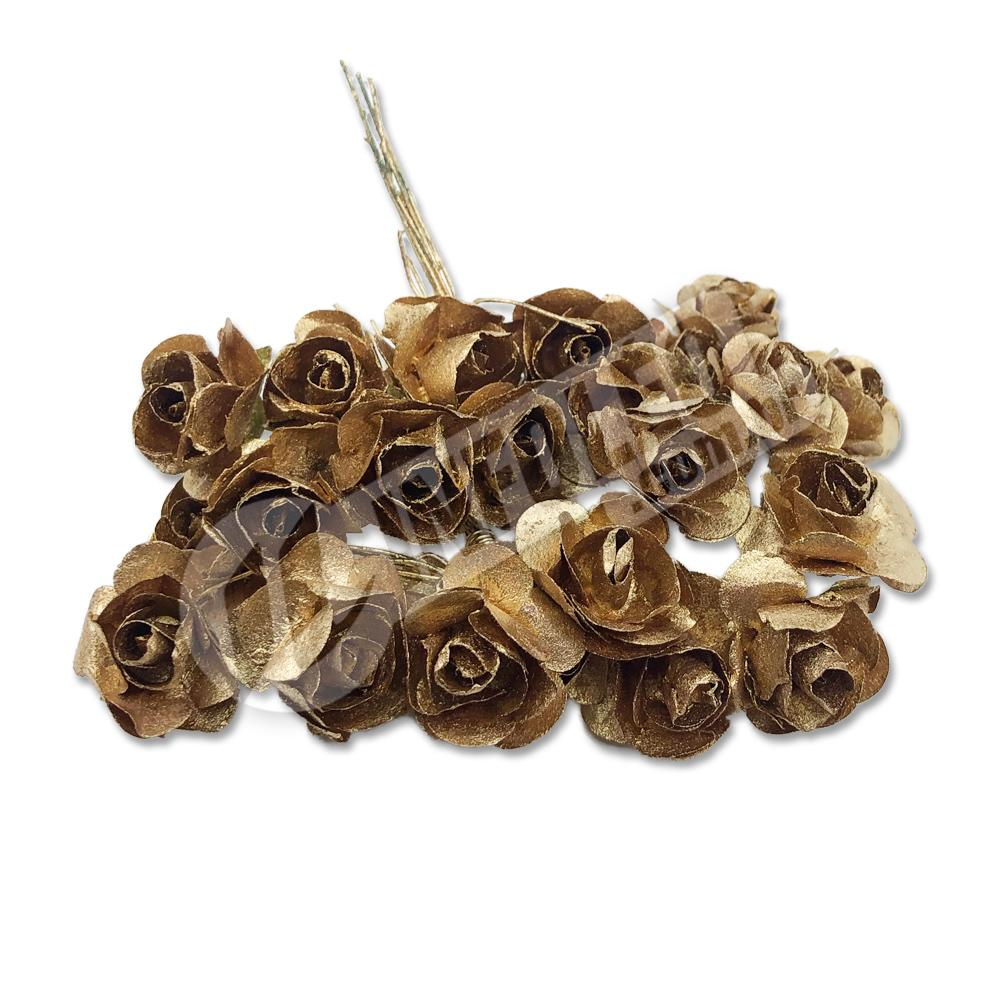 Flor de Papel Dourado - 72 unidades