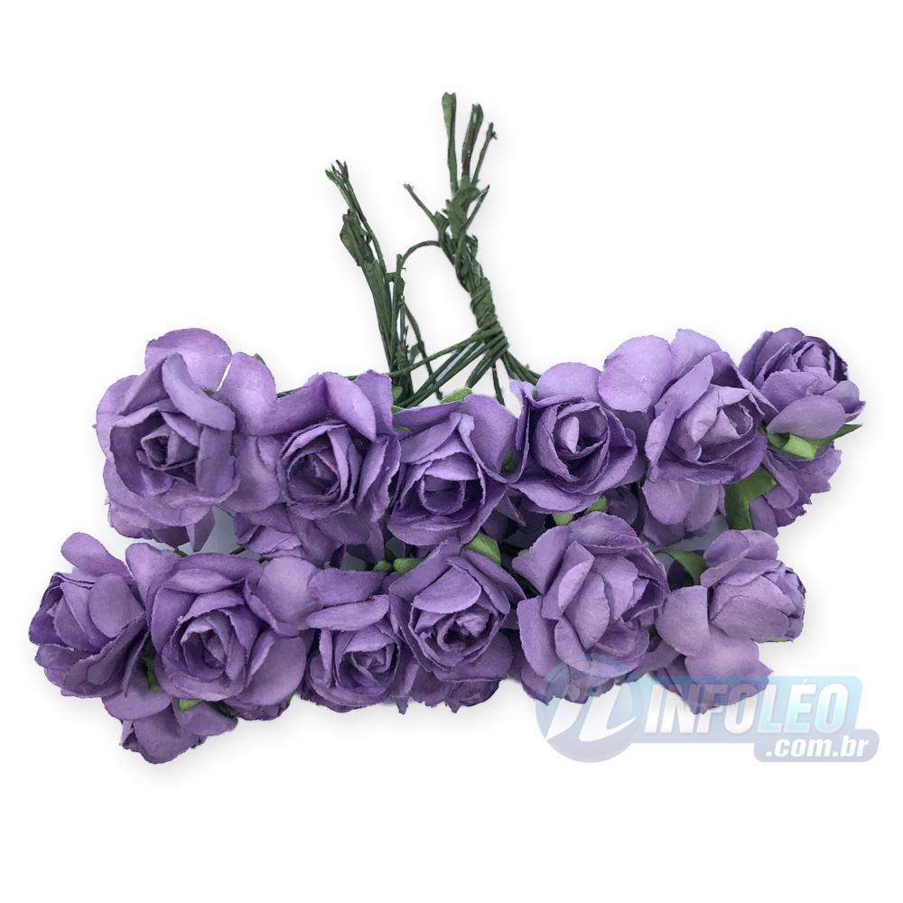 Flor de Papel Lilás - 72 unidades