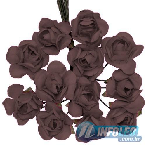 Flor de Papel Marrom - 72 unidades