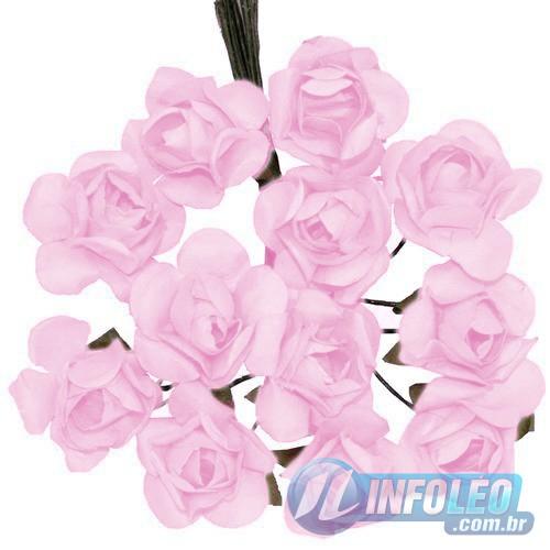 Flor de Papel Rosa Bebê - 72 unidades