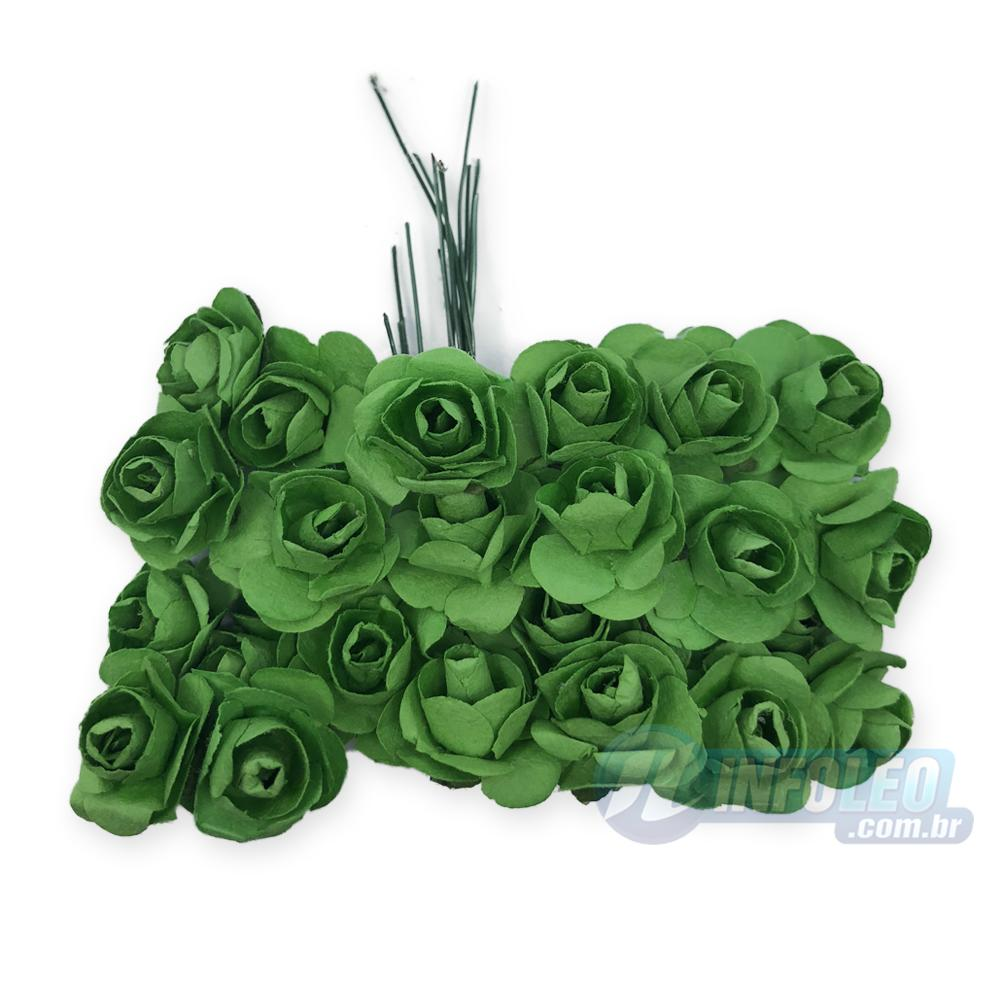Flor de Papel Verde Bandeira - 72 unidades