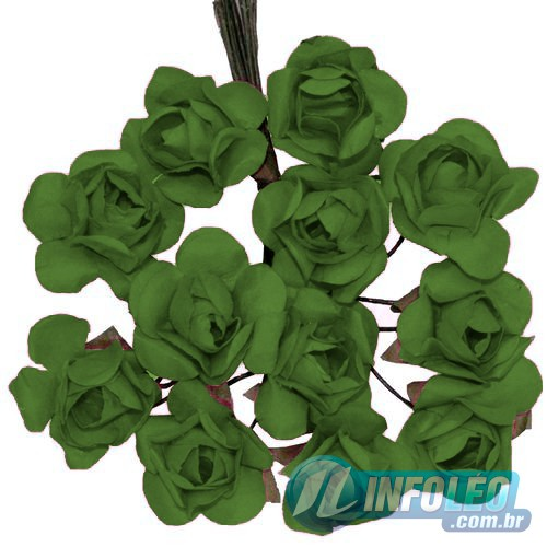 Flor de Papel Verde Buenos Aires - 72 unidades