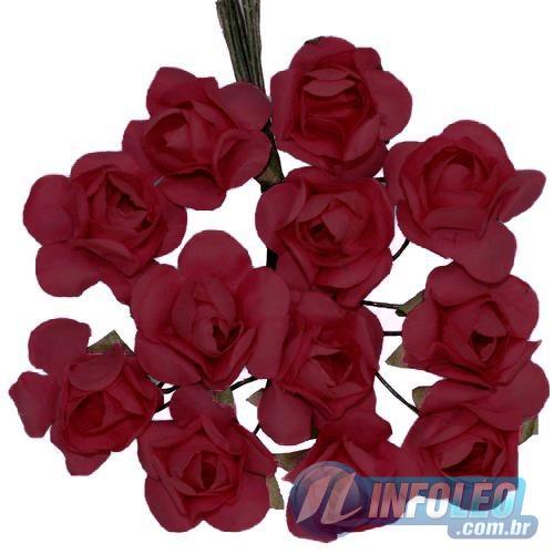 Flor de Papel Vermelho - 72 unidades