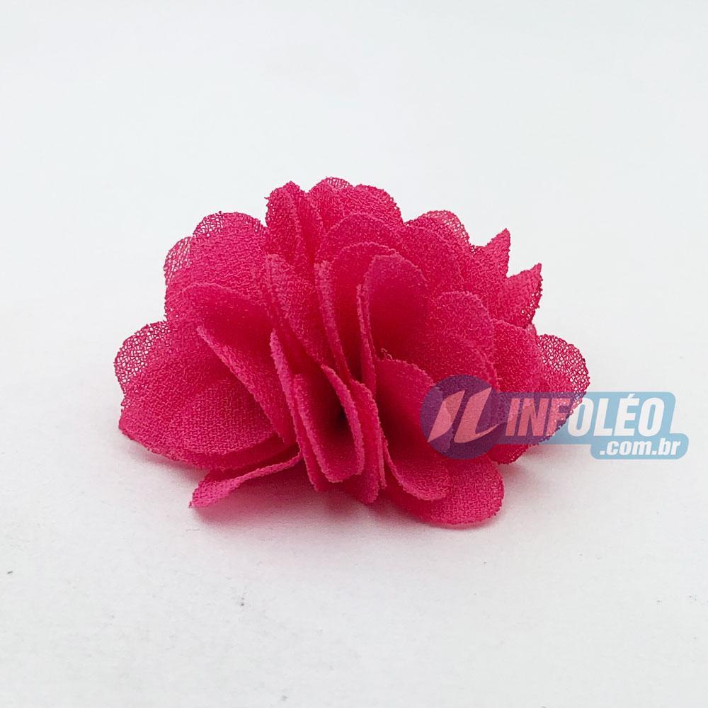 Flor sem Pingente 3cm Rosa Pink - 2 unidades