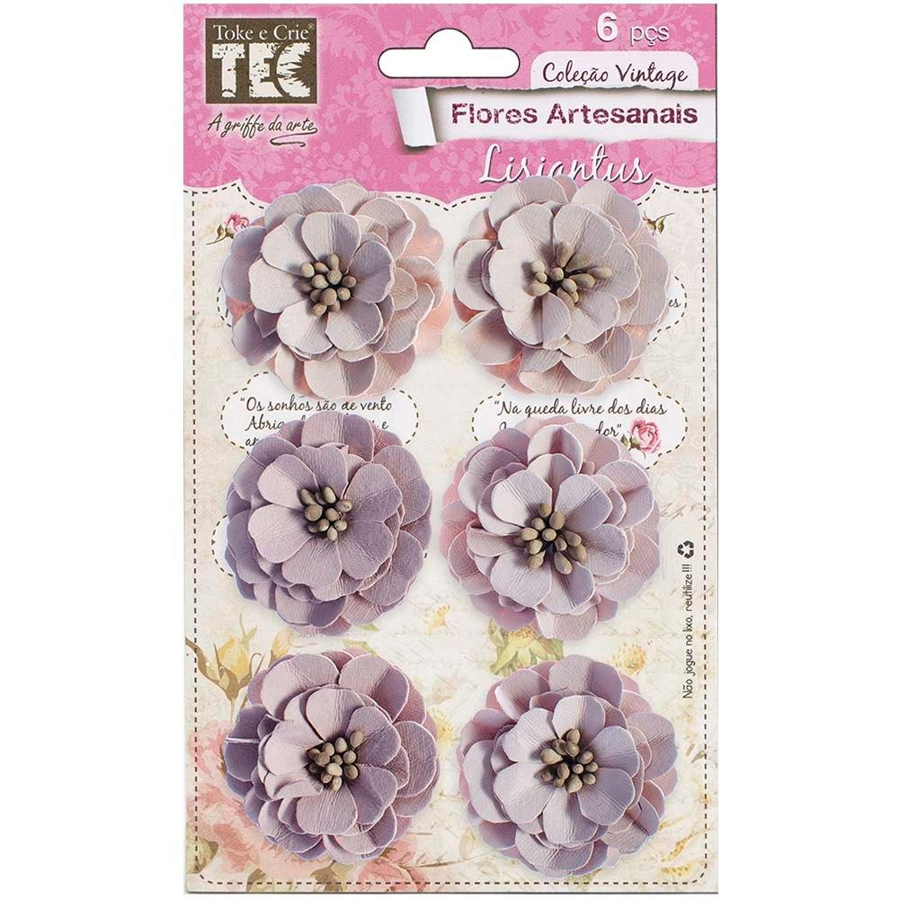 Flores Artesanais Lisiantus Sepia Toke e Crie - 16952 - FLOR109