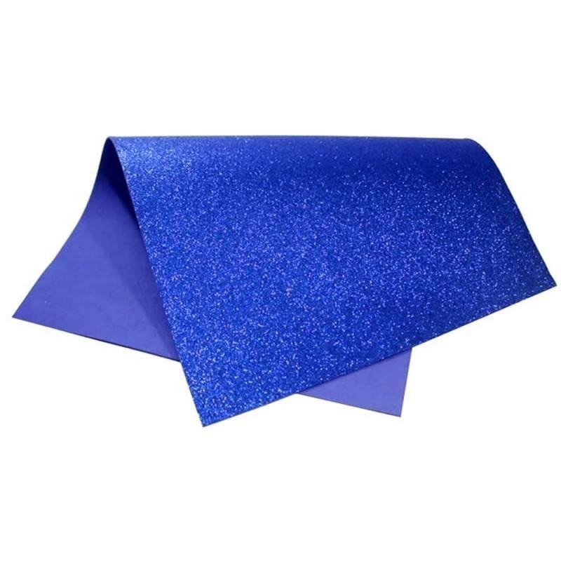 Folha EVA C/ Glitter Azul 2mm 40x60cm BRW - EV4004