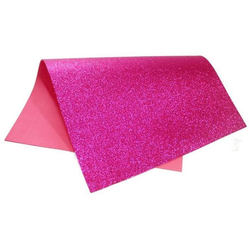 Folha EVA C/ Glitter Rosa Pink 2mm 40x60cm BRW - EV4010