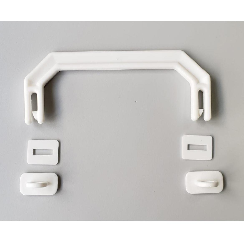 Kit Alça para Maleta Executiva Branco - 10 unidades