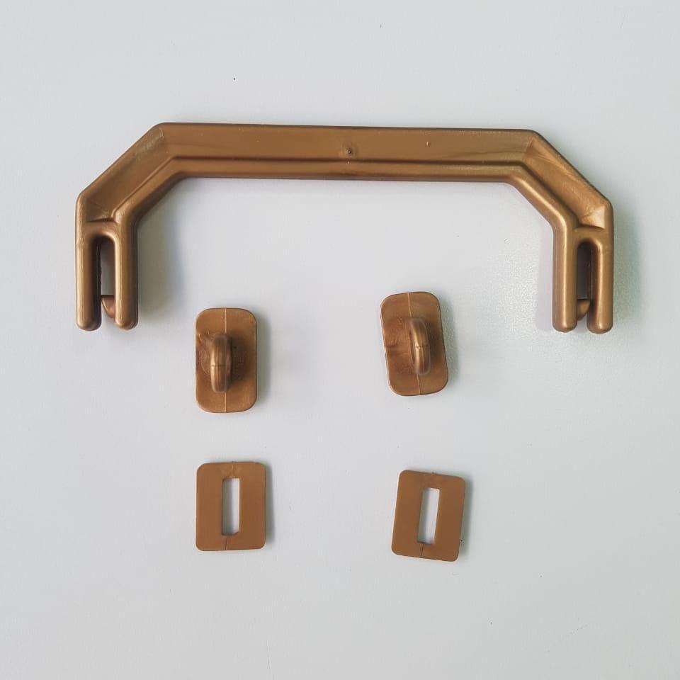 Kit Alça para Maleta Executiva Dourado - 10 unidades
