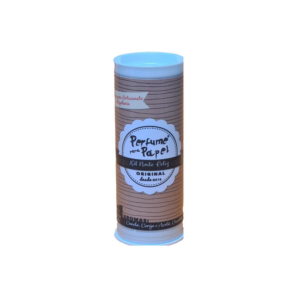 Kit Noite Feliz - Perfume para Papel com 3 aromas 15 ml cada (Canela, Chocolate com Pimenta, Cereja e Avelã)