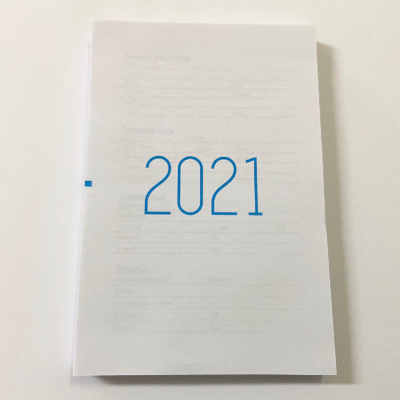 Kit para Agenda 2021 c/ Miolo Azul + 2x Luva e 1x Canguru (Sem Furação)