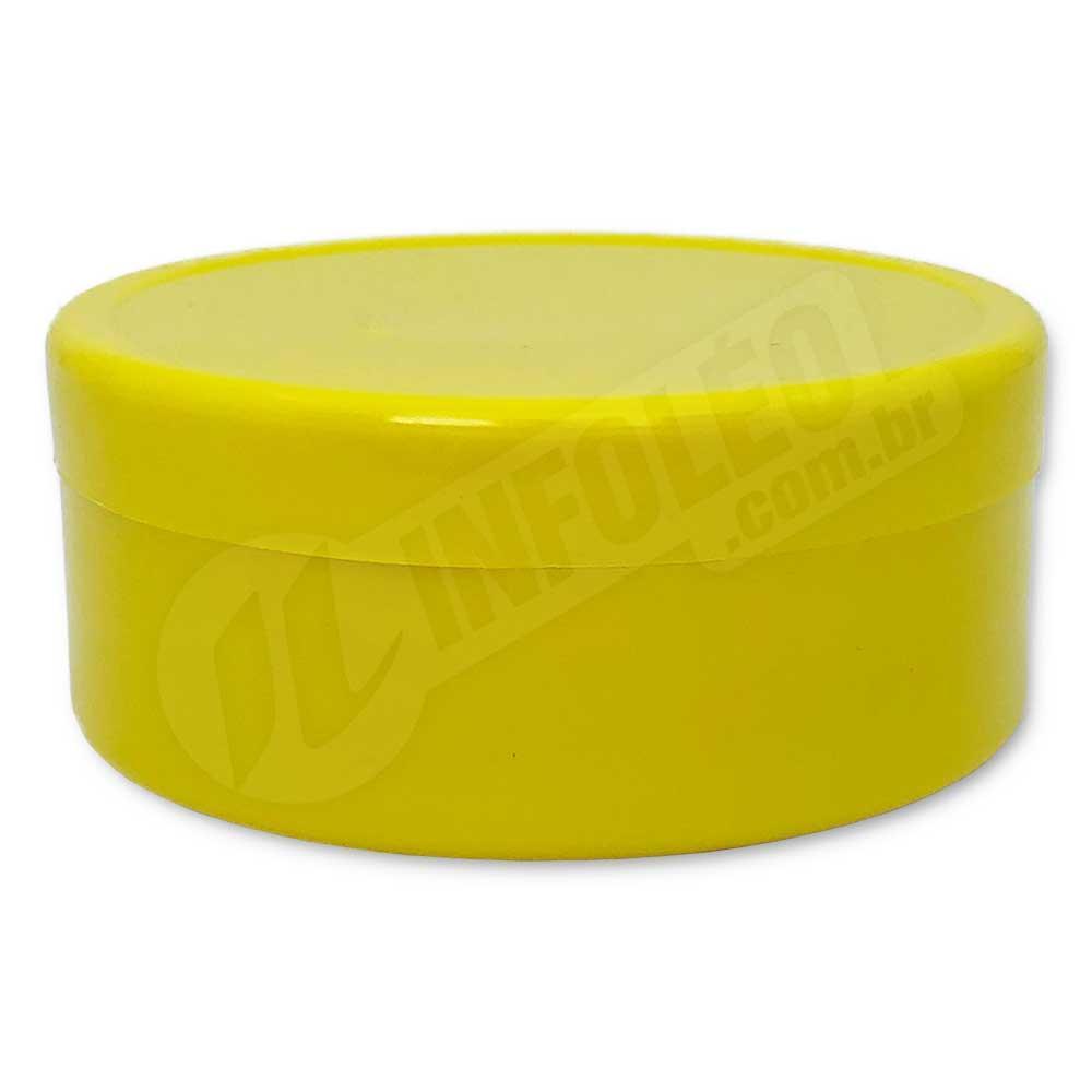 Latinha de Plástico 7x3cm Amarelo Escuro