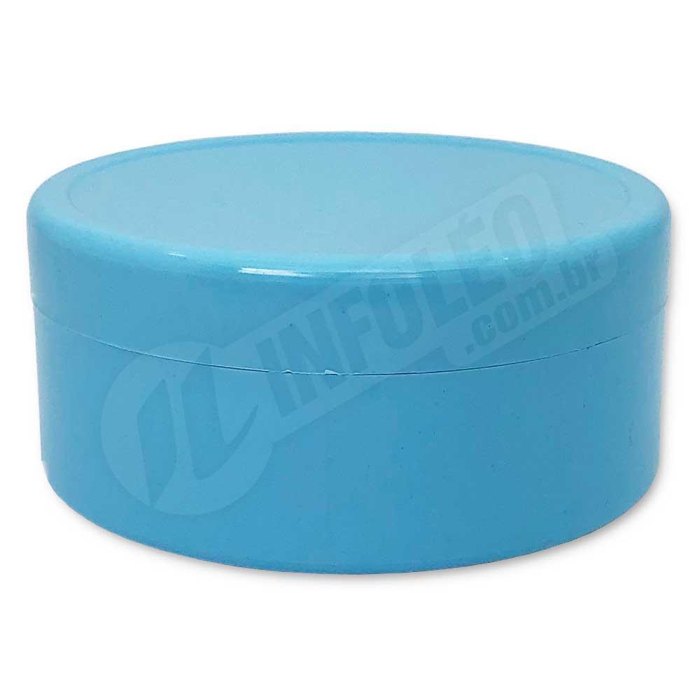 Latinha de Plástico 7x3cm Azul Bebê