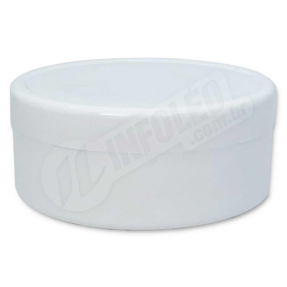 Latinha de Plástico 7x3cm Branco