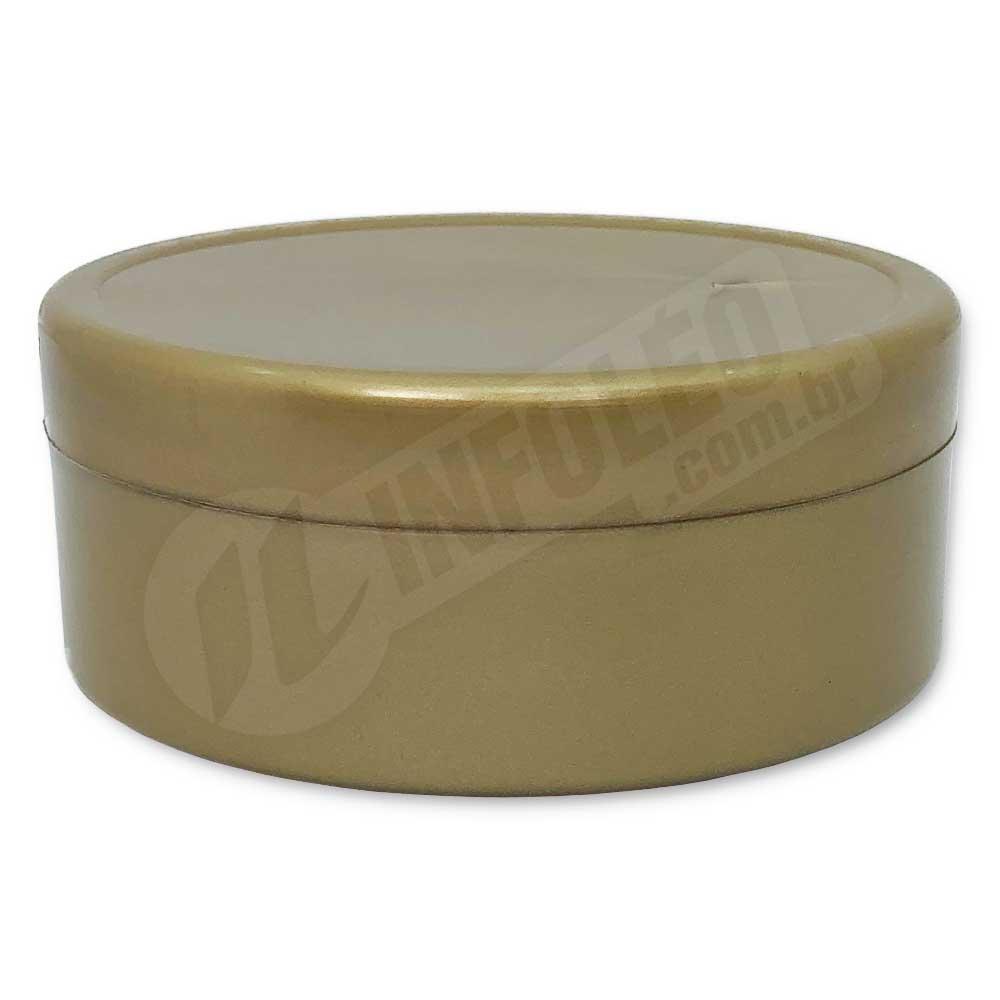Latinha de Plástico 7x3cm Dourado