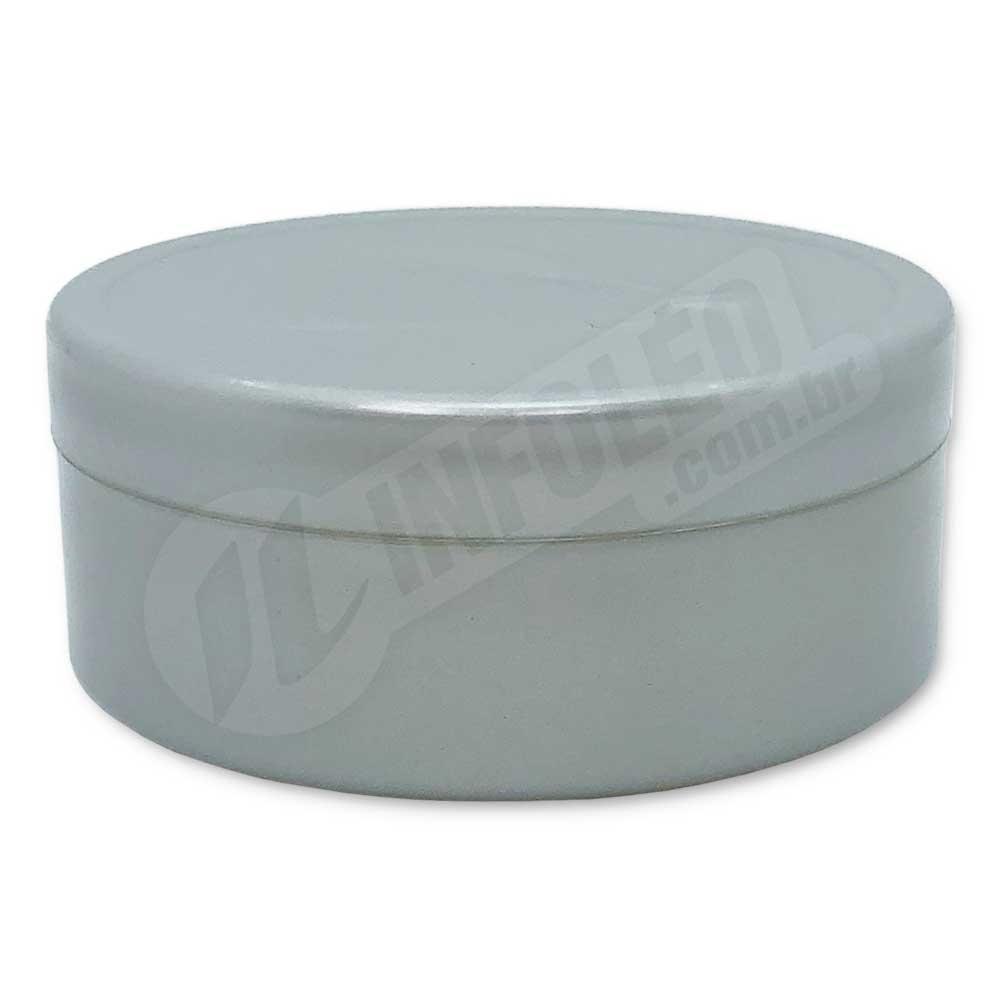 Latinha de Plástico 7x3cm Prata