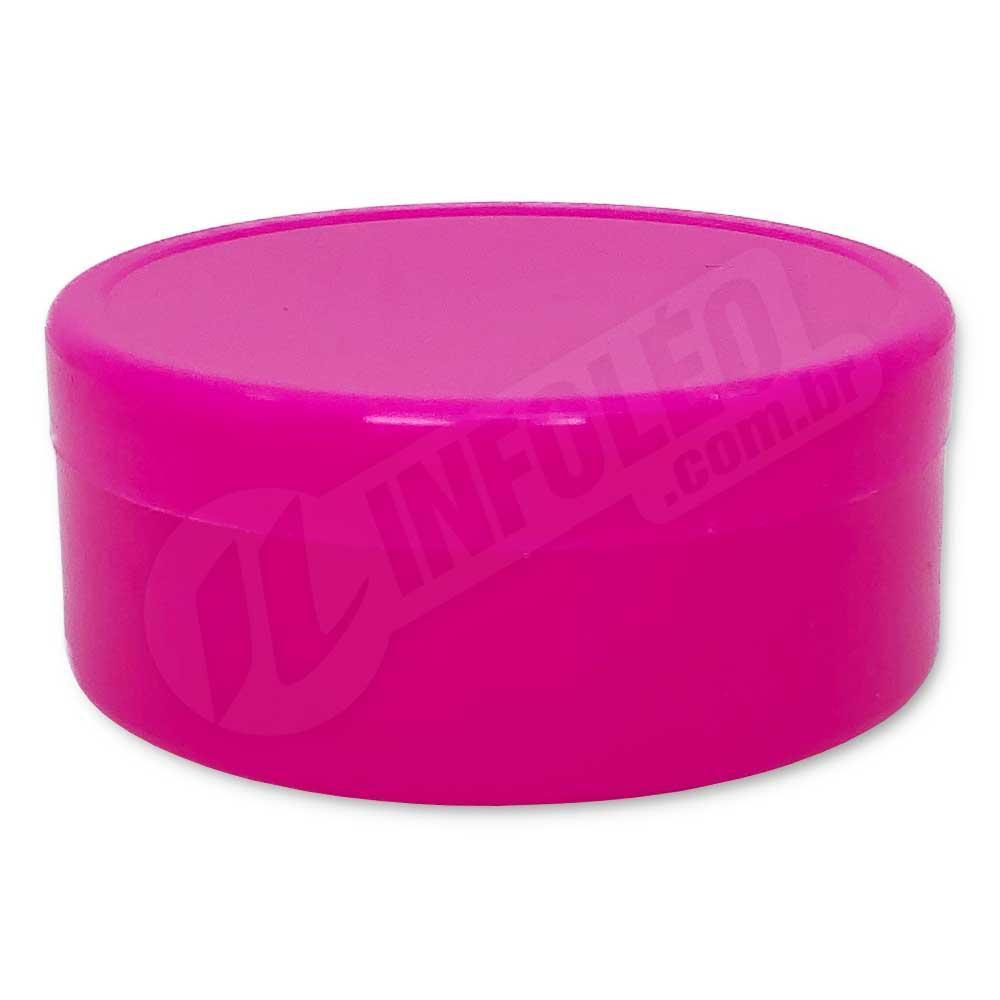 Latinha de Plástico 7x3cm Rosa Pink
