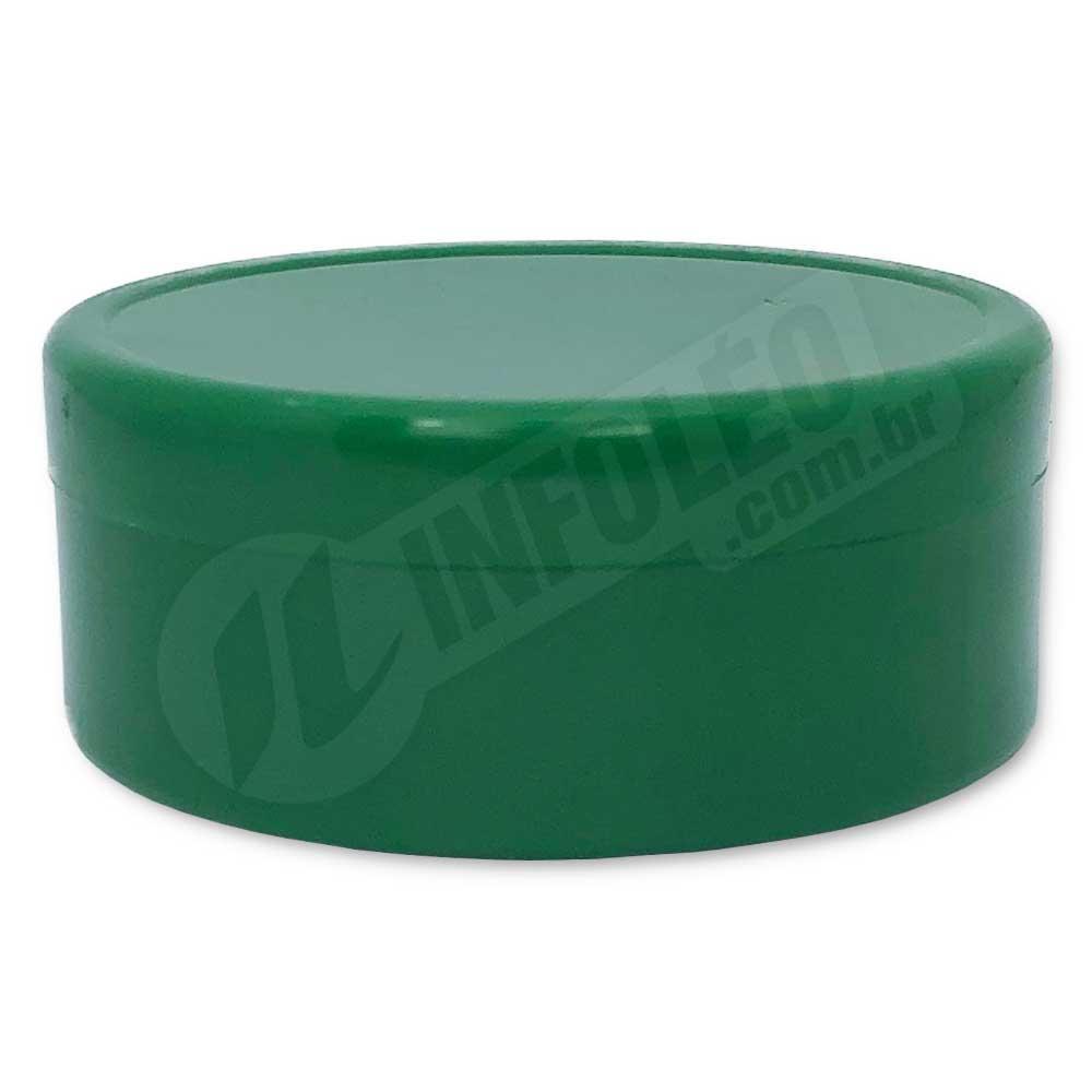 Latinha de Plástico 7x3cm Verde Escuro