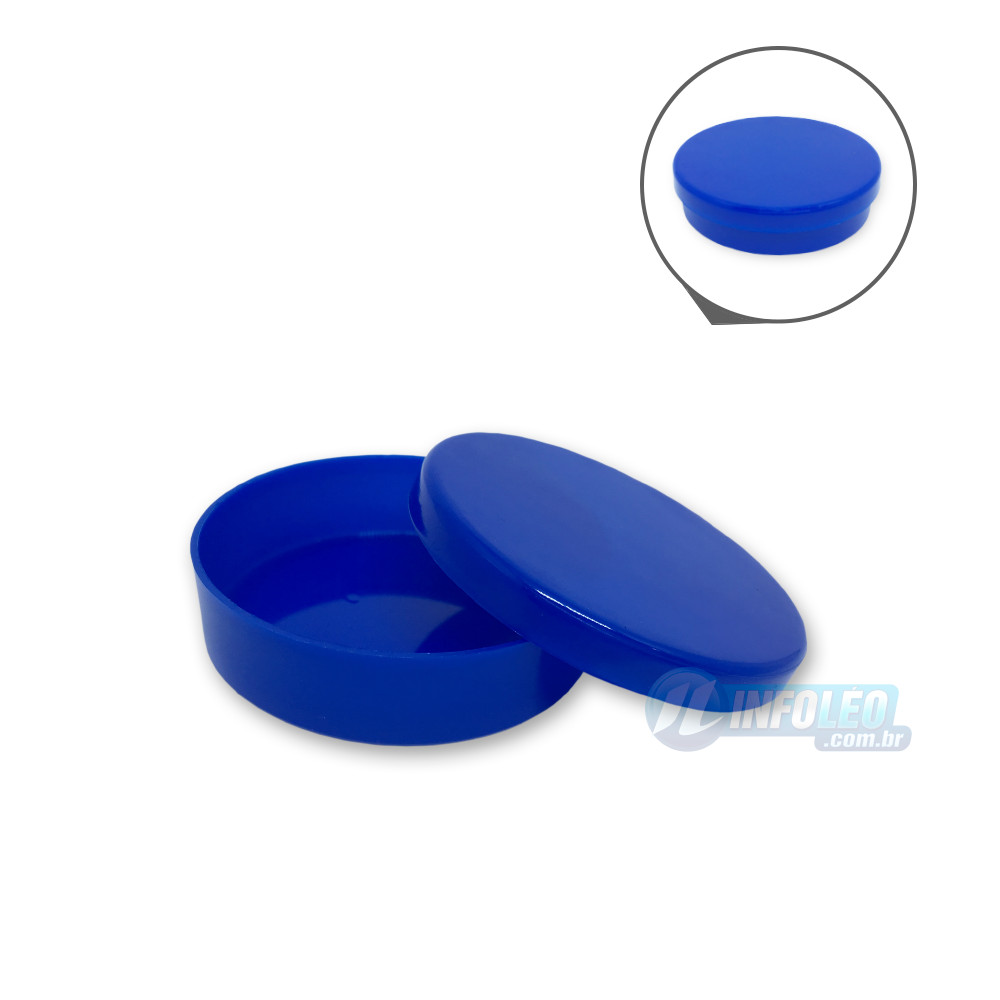 Latinha Plástico Azul Royal 5,5x1,5cm - 10 unidades