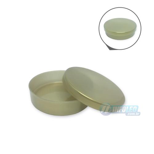 Latinha Plástico Dourada 5,5x1,5cm - 10 unidades